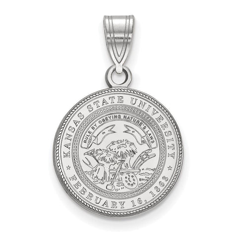 Kansas State Wildcats Medium Crest Pendant