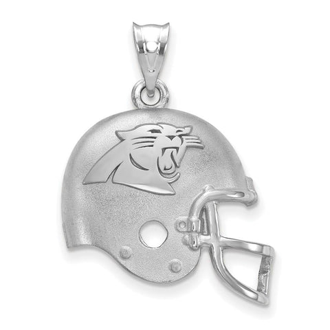 Carolina Panthers Football Helmet Logo Pendant in Sterling Silver