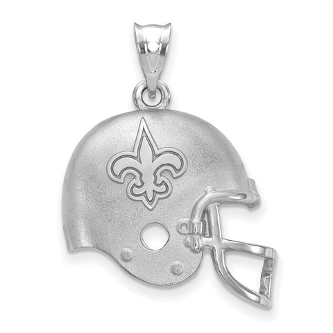 New Orleans Saints Football Helmet Logo Pendant in Sterling Silver