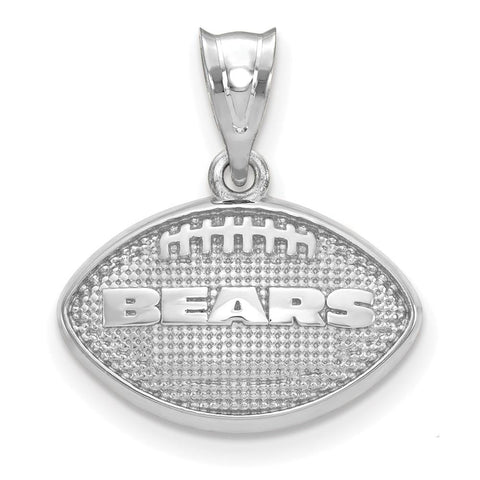 Chicago Bears Football with Logo Pendant in Sterling Silver