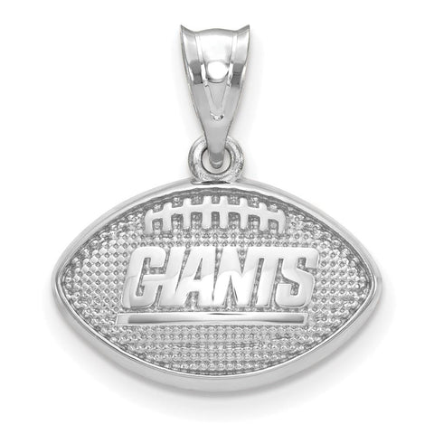 New York Giants Football with Logo Pendant in Sterling Silver