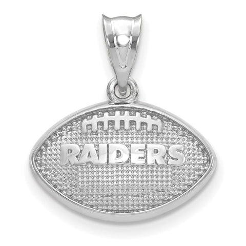 Oakland Raiders Football with Logo Pendant in Sterling Silver