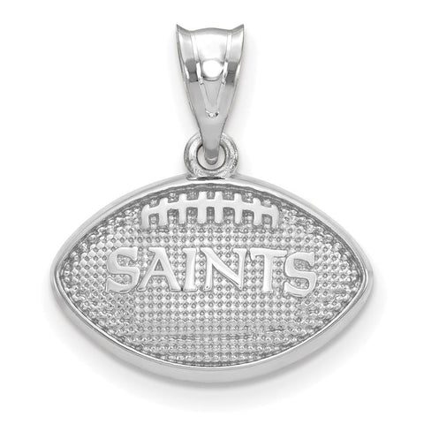 New Orleans Saints Football with Logo Pendant in Sterling Silver