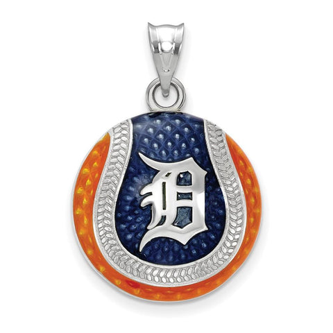 Detroit Tigers Baseball Enameled Pendant
