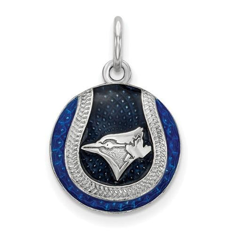 Toronto Blue Jays Baseball Charm - Silver and Enamel