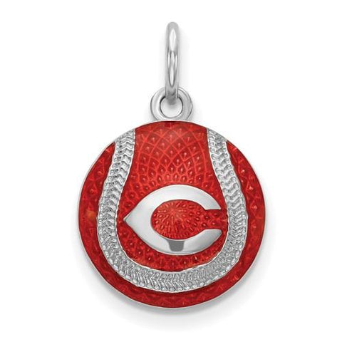 Cincinnati Reds Baseball Charm - Silver and Enamel