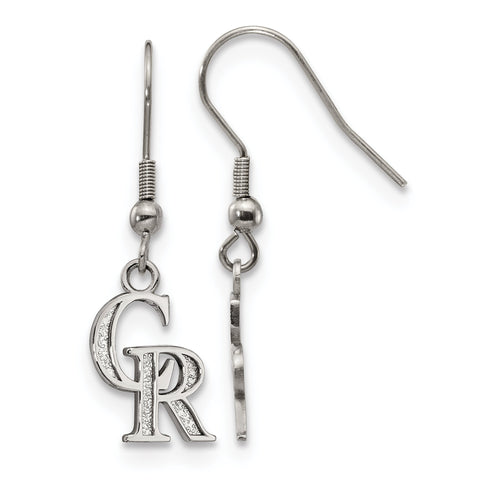 Colorado Rockies Dangle Earrings Stainless Steel