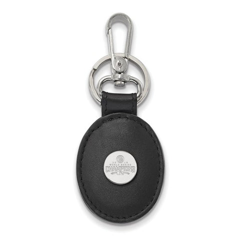 Chicago Cubs 2016 World Series Leather Oval Key Chain