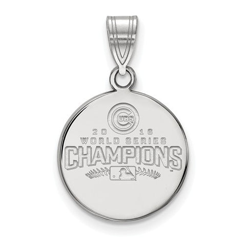 Chicago Cubs 2016 World Series Medium Disc Pendant