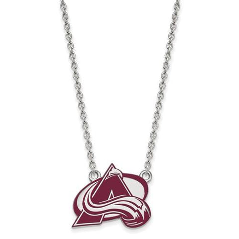 Colorado Avalanche Large Enamel Pendant w/Necklace