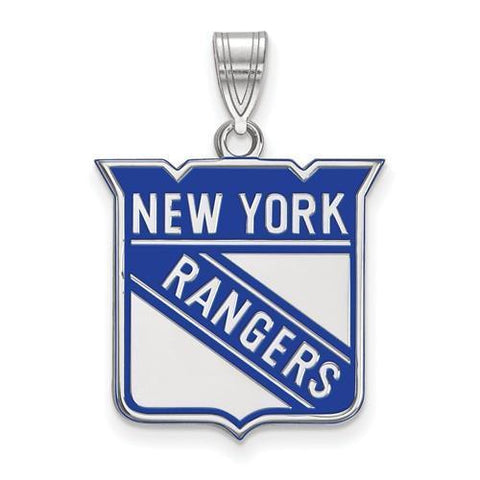 New York Rangers Large Enamel Pendant