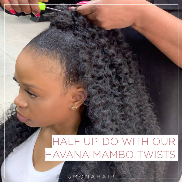 Step by Step: Half up-do with our Havana Mambo Twists