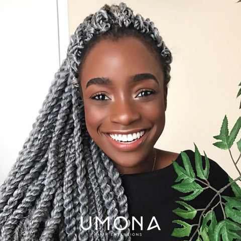 Crochet Twists in Grey