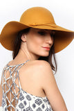 Butterscotch Floppy Bow Hat