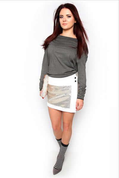 Catch Me If You Can Metallic Skirt