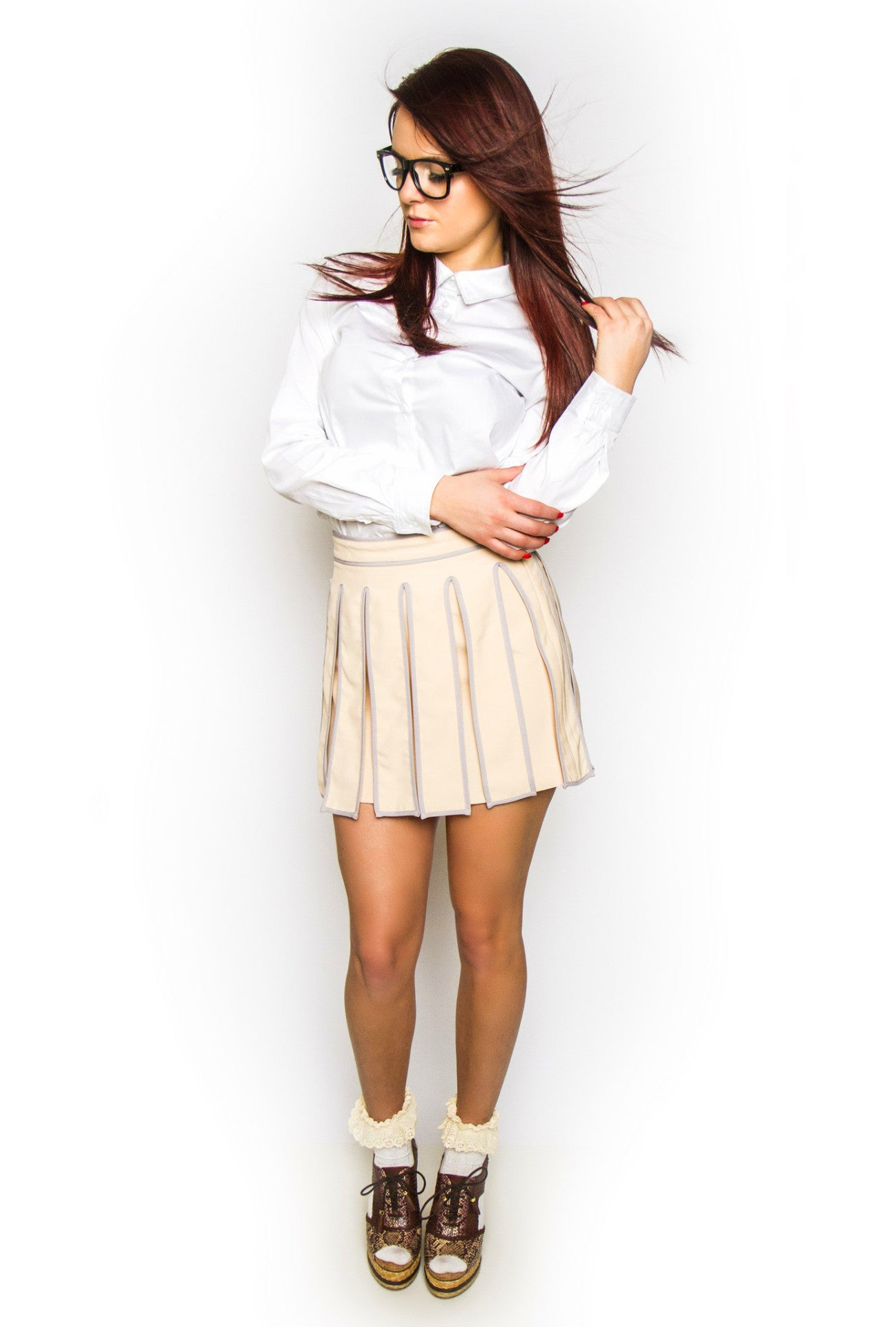 Blush Kilt Mini Skirt