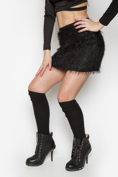 Fuzzy For You Mini Skirt