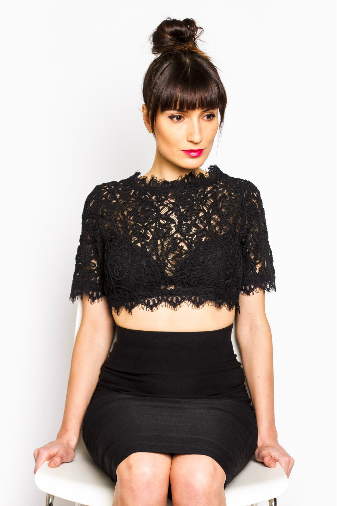 Lace Blossom Crop Top