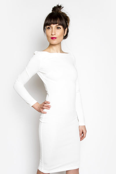 Keira Solid Midi Dress
