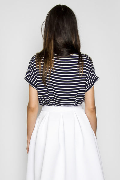 Picasso Striped Jersey Top