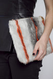 Neon Faux Fur Clutch