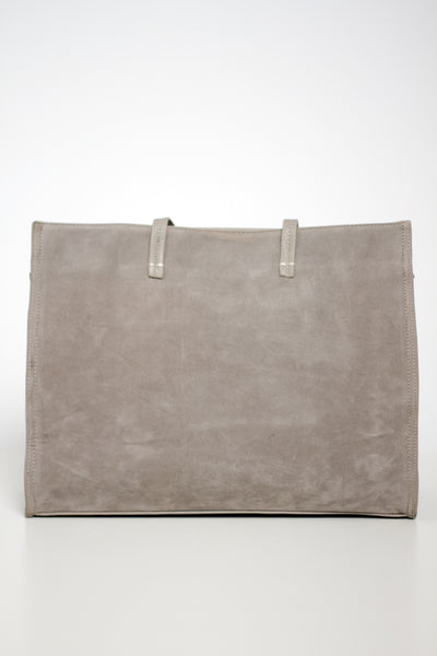 One Shade of Grey Faux Suede Tote