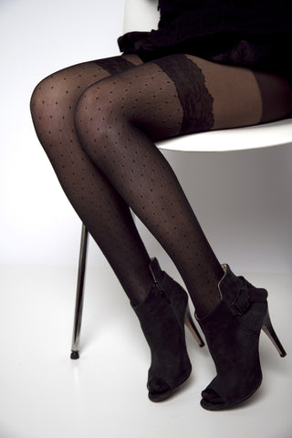 Dot Pattern Over Knee Stockings