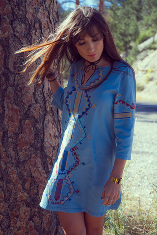 Guadalupe Embroidered Shift Dress