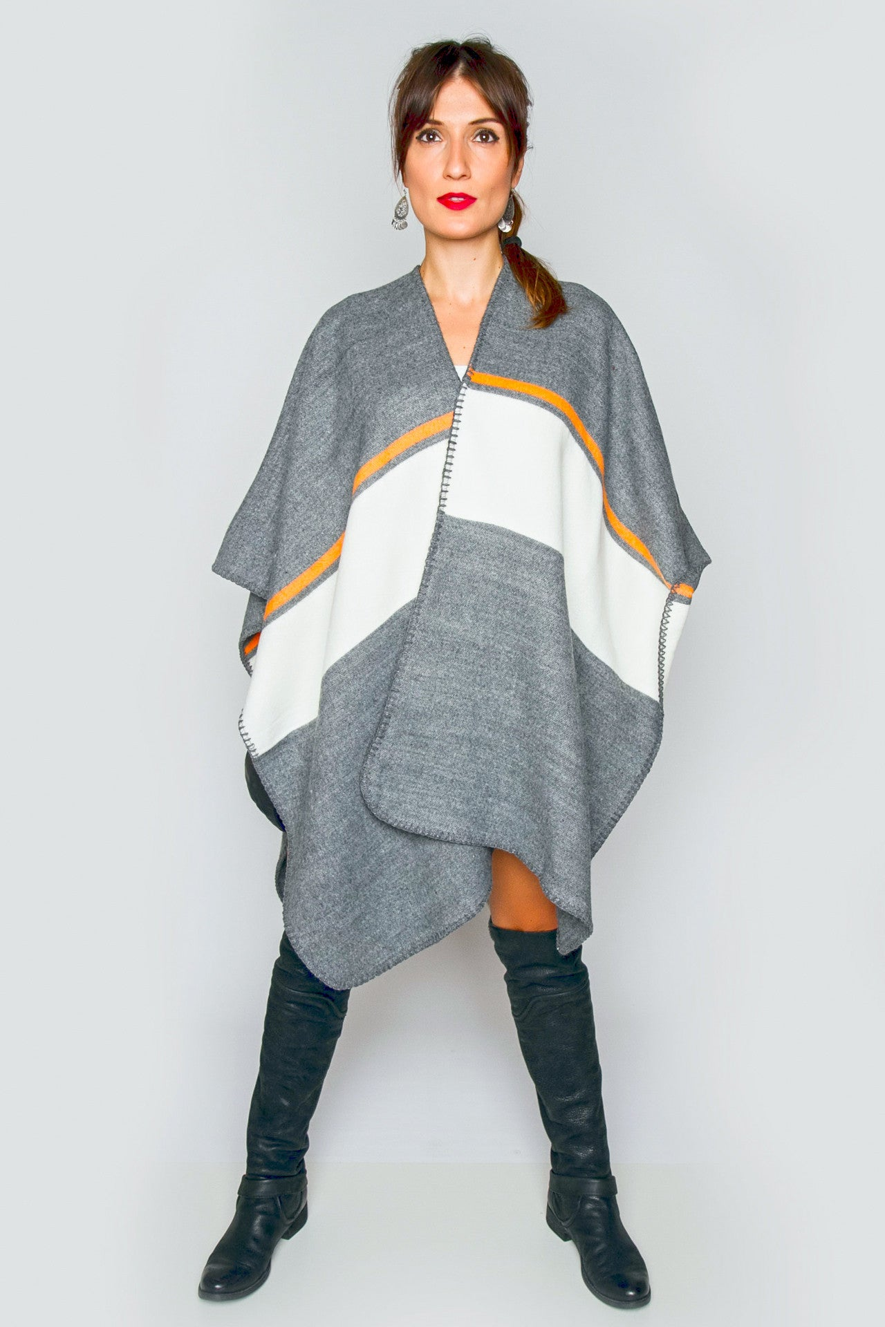 Veda Light Knit Poncho
