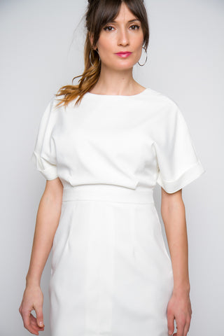 Avella Short Sleeve Midi Dress