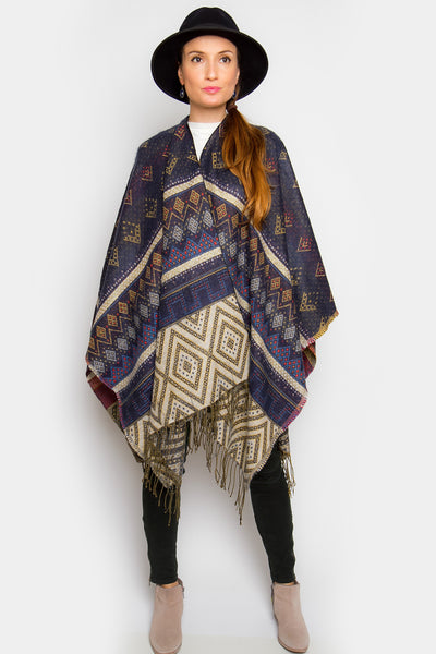 Edith Wool Poncho