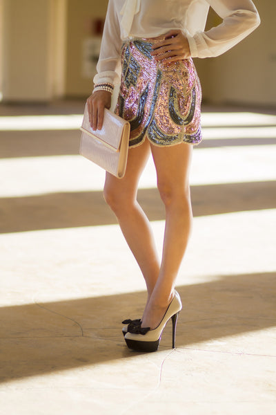 Gladiator Sequin Mini Skirt