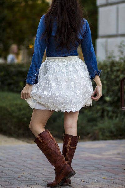 Amazing Lace Embroidered Skirt