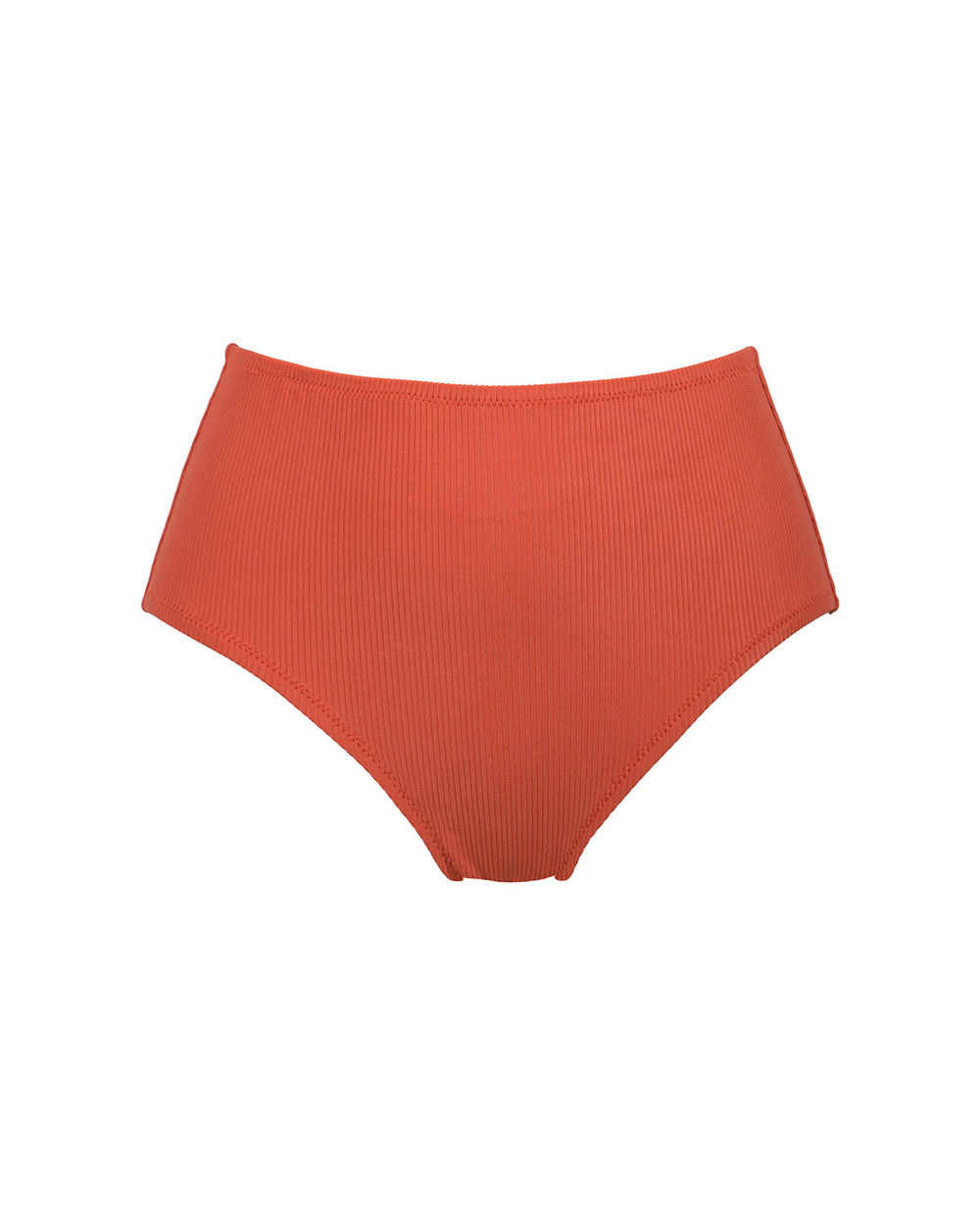Westwood Bottom - Burnt Orange Rib - Static Swimwear - Modern Minimalist Bikinis - Made in Los Angeles