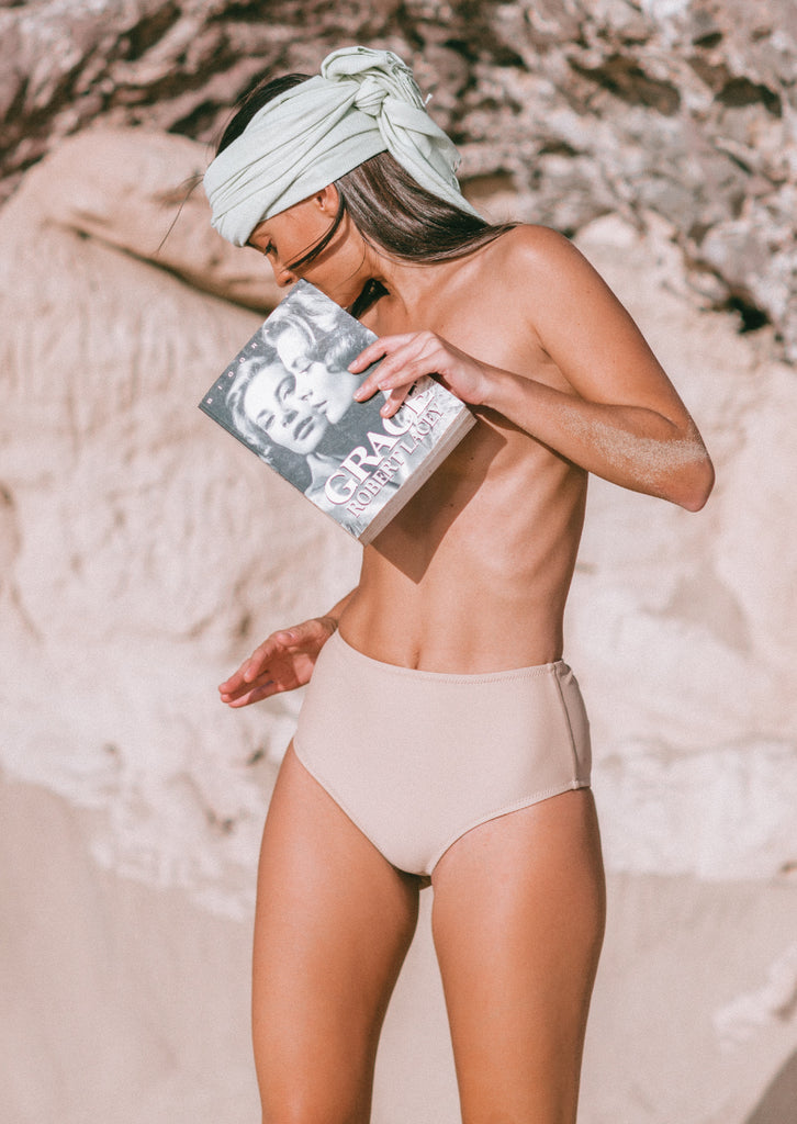 Westwood Bottom - Dark Sand Matte - Static Swimwear - Modern Minimalist Bikinis - Made in Los Angeles