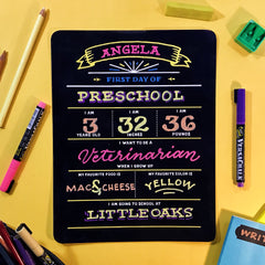 back to school chalkboard printables from Versachalk