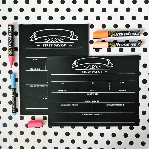 Black & White Chalkboard Printable