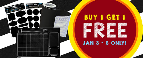 Buy 1 Get 1 Free Chalkboard Art Supplies Sale