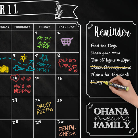 Chalkboard Calendar from Versachalk