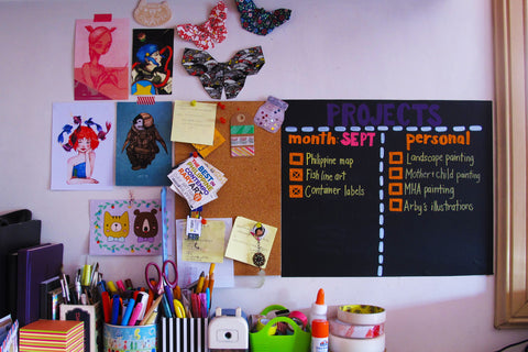 DIY Project List using chalkboard contact paper