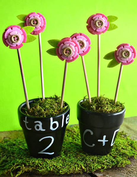 flower pot favors