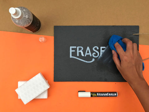 how to erase chalk marker ink
