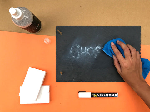 how to prevent ghosting on chalkboard