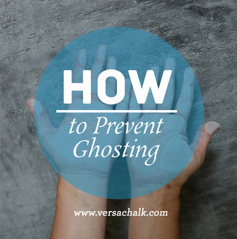 Prevent ghosting on chalk markers