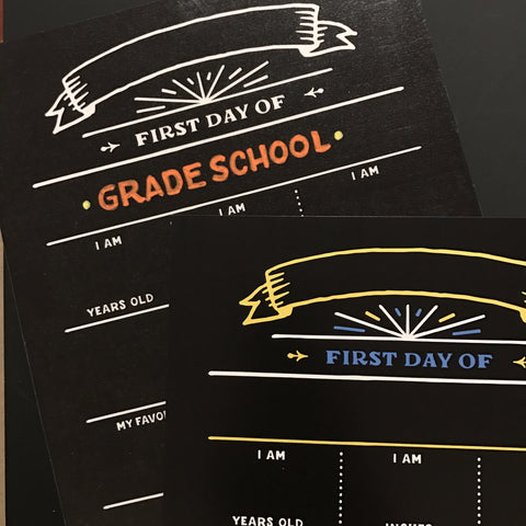 Back to School Printables in plain and colored format