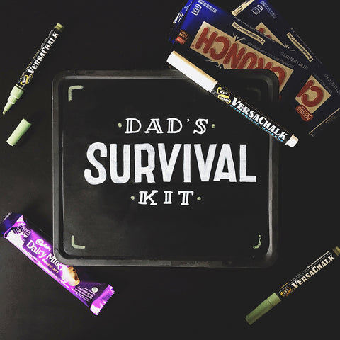 Father's Day Chalkboard Daddy Survival Kit
