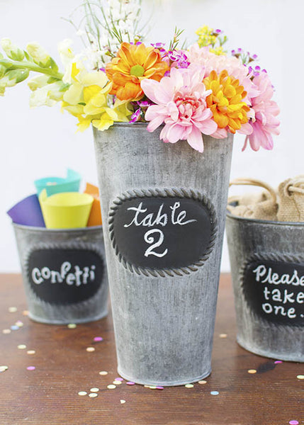 metal planter party favor