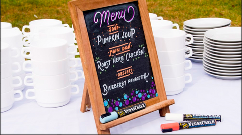 chalkboard menu for casual dining restaurants