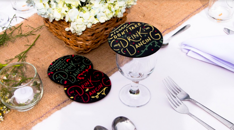 chalkboard wedding favors