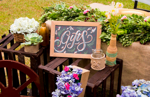 chalkboard wedding signages